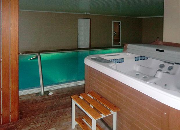 proyecto de piscina con spa en Luintra