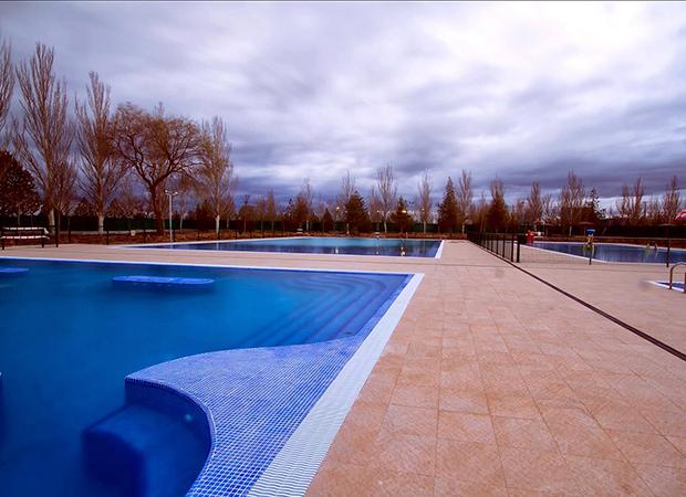 Vista del proyecto de piscinas deportivas en Olmedo - Valladolid