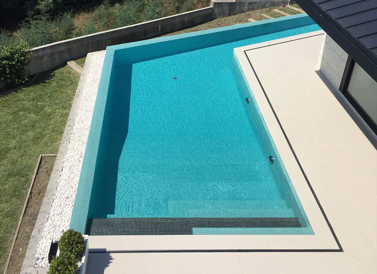 proyecto piscina en a caeira vista superior